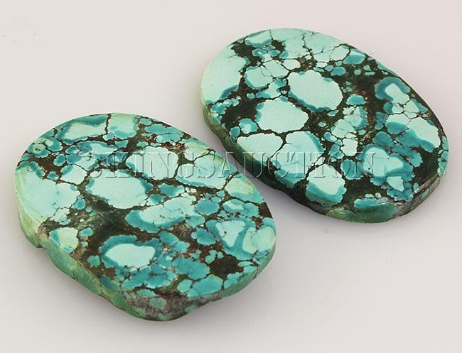 Natural Turquoise 143.86ctw Loose Gemstone 2pc Big Size
