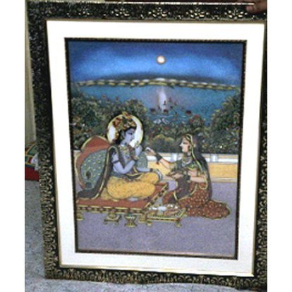 3D Indian Natural Gemstone Painting size 24in.x30in.