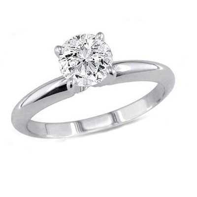 0.85 ct Round cut Diamond Solitaire Ring, G-H, SI2