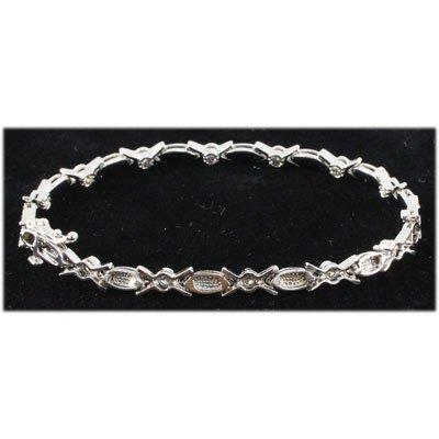 Genuine 1.40 ctw Diamond Bracelet 14kt W/G 9.40g