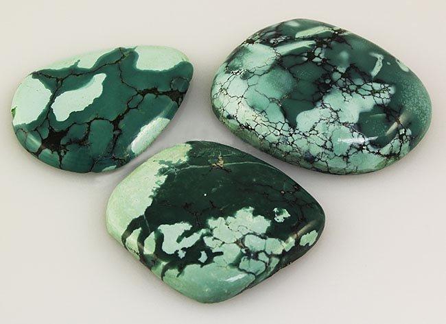 Natural Turquoise 141.60ctw Loose Gemstone 3pc Big Size