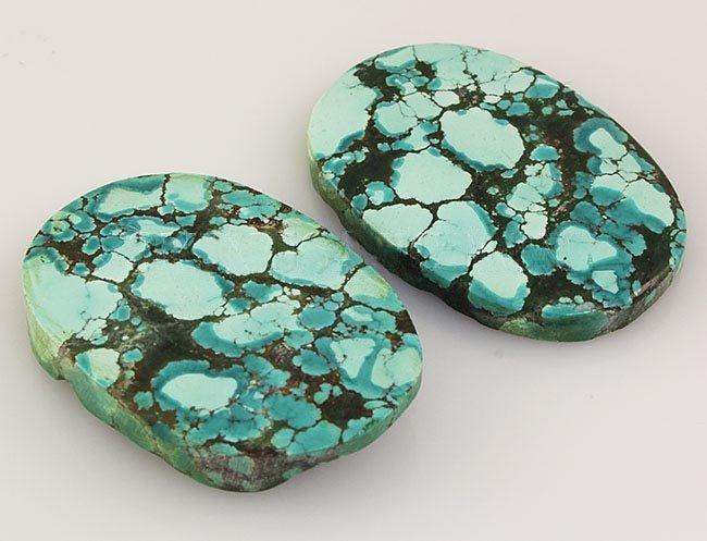 Natural Turquoise 143.86ctw Loose Gemstone 2pc Big Size