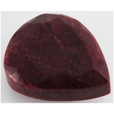 Ruby 2729.5ct Loose Gemstone 105x85mm Pear Cut