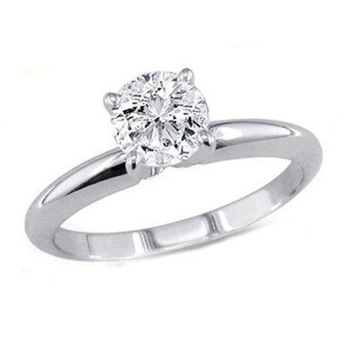 0.90 ct Round cut Diamond Solitaire Ring, G-H, VS