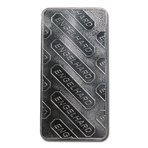 Silver Bars: Engelhard 10 oz Bar (Tall, E Globe) .999 f - 2