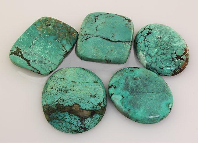 Natural Turquoise 227.06ctw Loose Gemstone 4pc Big Size