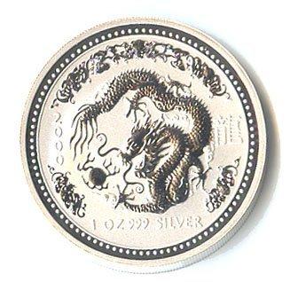 Australian Lunar Silver 1 oz Silver 2000 Dragon
