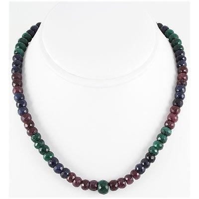 297.84ct Natural Multi-Color Rondelles Necklace