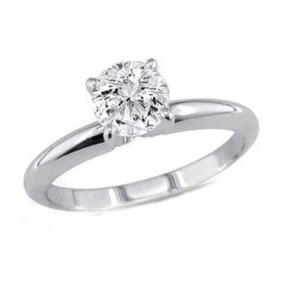 0.90 ct Round cut Diamond Solitaire Ring, G-H, SI2