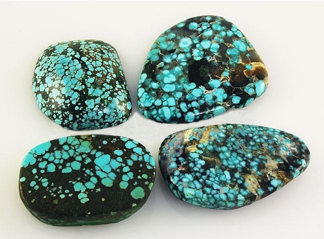 Natural Turquoise 185.38ctw Loose Gemstone Lot of 5