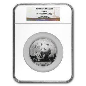 2012 5 oz Silver Panda Proof NGC PF-69