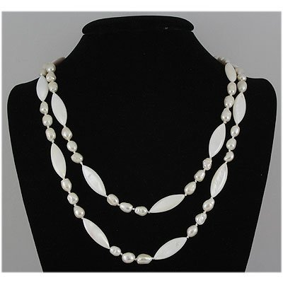 389.10ctw Philippines Freshwater Pearl&Capiz Necklace