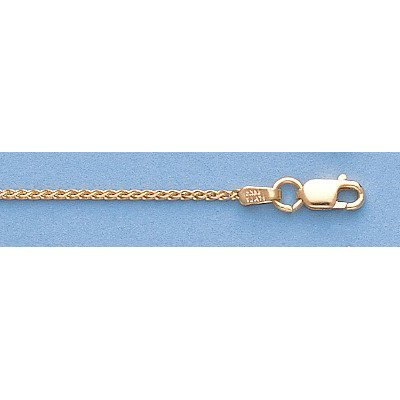 "Pure Gold 16"" 14k Gold-Yellow 1.1mm Wheat Chain 2.8g - 2"