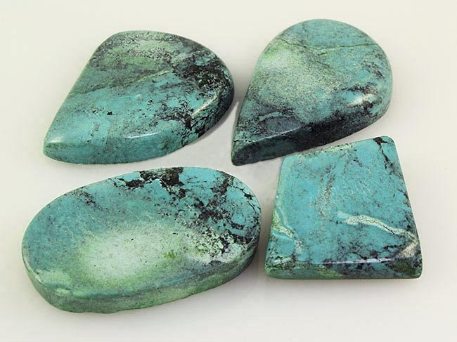 Natural Turquoise 207.90ctw Loose Gemstone Lot of 4