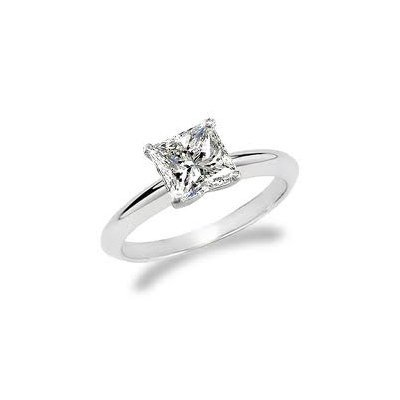 1.00 ct Princess cut Diamond Solitaire Ring, I-J, SI2