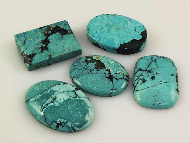 Natural Turquoise 202.75ctw Loose Gemstone Lot of 4