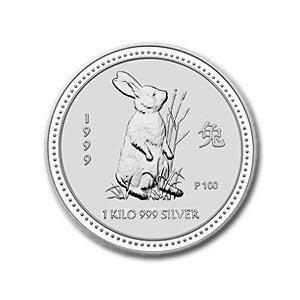 1999 1 Kilo Silver Lunar Year of the Rabbit (Series I)