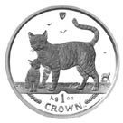 Isle of Man 2002 1 Crown Silver Proof Bengal Cat
