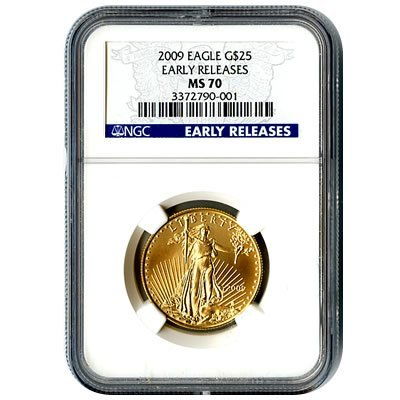 Certified American $25 Gold Eagle 2009 MS70 NGC