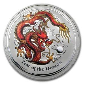 2012 1 Kilo Silver Australian Year of the Dragon