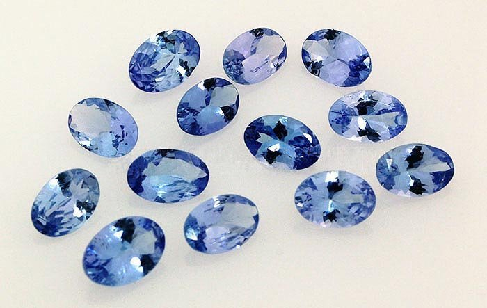 Natural African Tanzanite 5.38ctw Loose Gemstone 13pcs