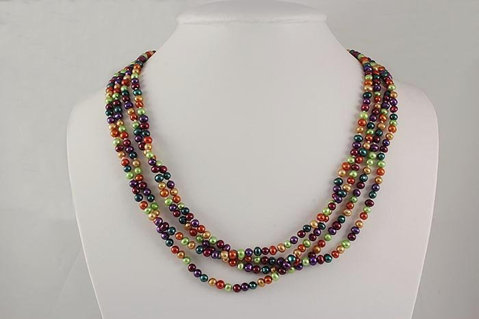 323.04CTW MULTI-COLOR FRESHWATER PEARL NECKLACE