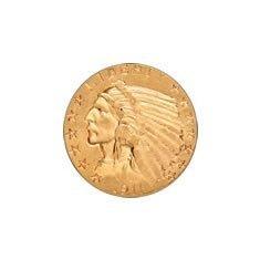 Early Gold Bullion $5 Indian Extra Fine