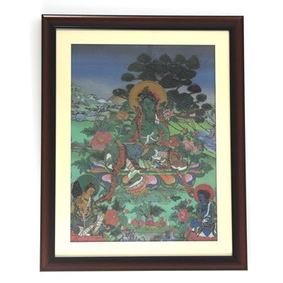 "24 1/2"" x 30 1/2"" Religious Buddha Gemstone Painting"