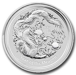 2012 10 oz Silver Australian Lunar Year of the Dragon C