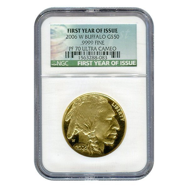 Certified Proof Buffalo Gold Coin 2006-W One Ounce PF70