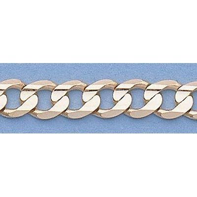 """Pure Gold 16"""" 14k Gold-Yellow 5.1mm Curb Chain"""