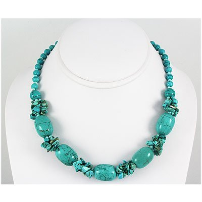 Natural 328.96ctw Turquoise Sterling Silver Necklace