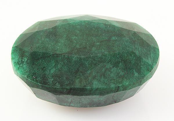 Emerald 318.87ctw Loose Gemstone 49x40x21mm Oval Cut