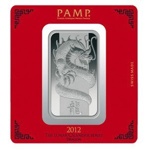 100 gram Pamp Suisse Silver Bar Year of the Dragon