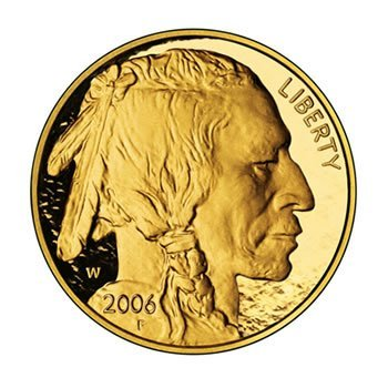 Proof Buffalo Gold Coin One Ounce 2006-W Coin