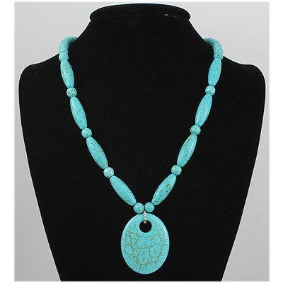 Natural 391.88ctw Turquoise Sterling Silver Necklace