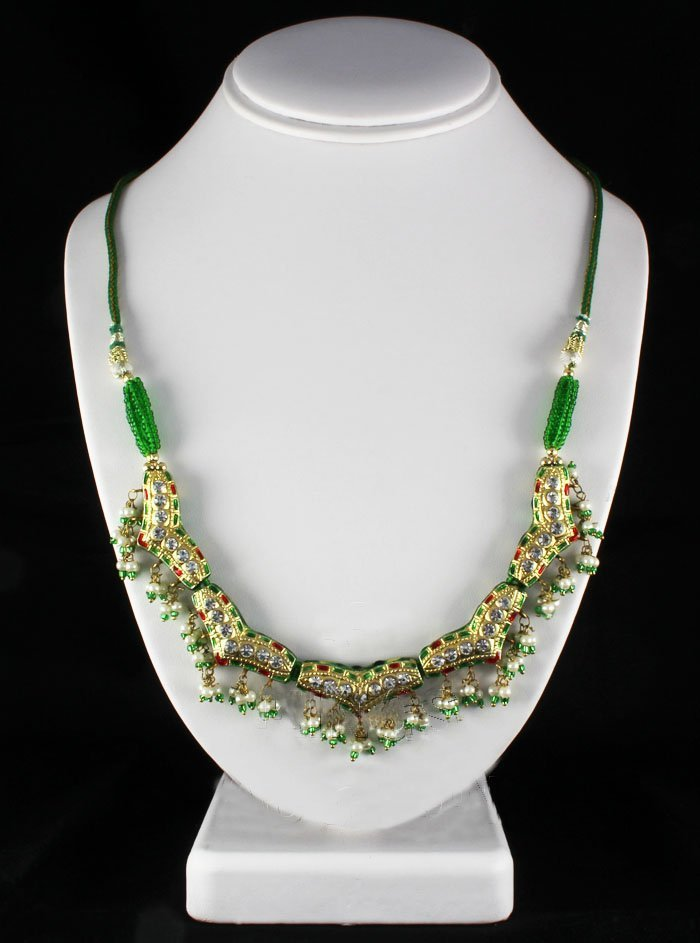 21.57GRAM INDIAN HANDMADE LAKH FASHION NECKLACE