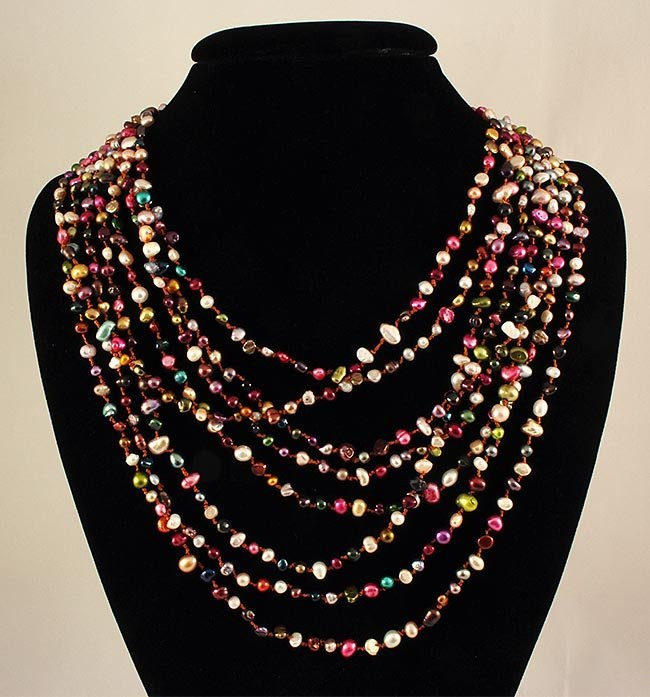 506.17CTW MULTI-COLOR FRESHWATER PEARL NECKLACE