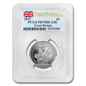 2012 1/2 oz Silver Britannia PR-70 DCAM PCGS (FS)