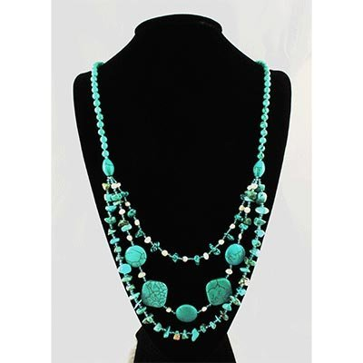 Gushing Sky Blue Turquoise 476.86ctw Beads Necklace