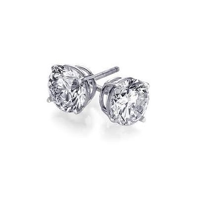 0.66 ctw Round cut Diamond Stud Earrings G-H, VS