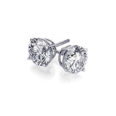 0.75 ctw Round cut Diamond Stud Earrings G-H, VS