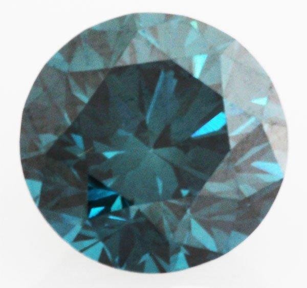 0.75 carat Natural Blue Diamond Loose SI1 Round Brillia