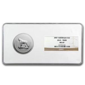 2012 2 zo Silver Lunar Year of the Tiger