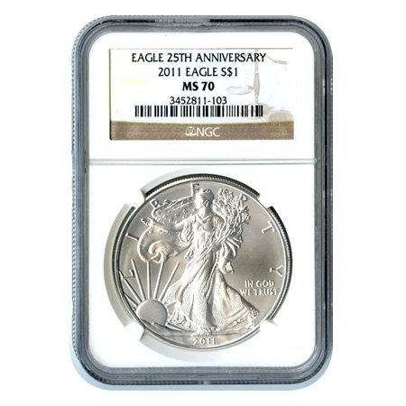 Certified Uncirculated Silver Eagel 2011 MS70