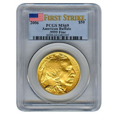 Certified Uncirculated Gold Buffalo 2006 MS69 First