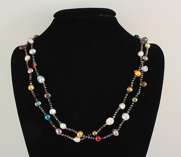 265.76CTW LONG FRESHWATER PEARL NECKLACE ASSORTED