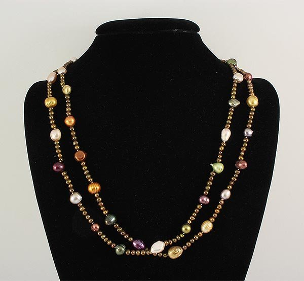 303.66CTW LONG FRESHWATER PEARL NECKLACE ASSORTED
