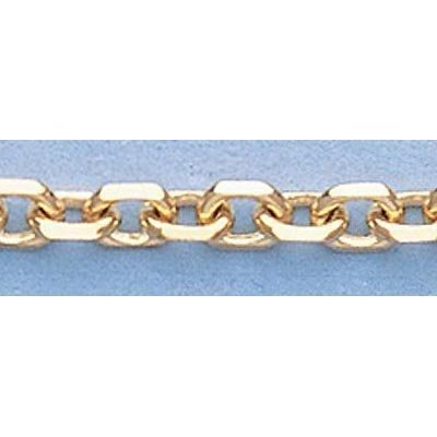 "Pure Gold 16"" 14k Gold-Yellow 3.0mm D/C Boston Chain"