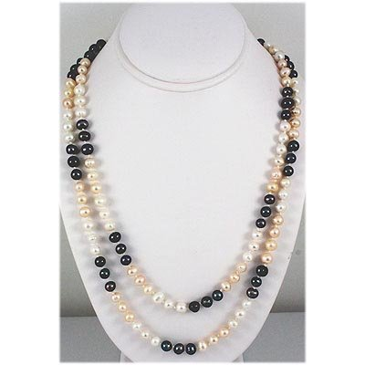 375.72ct Multi-Color Freshwater Pearl Necklace, 24in
